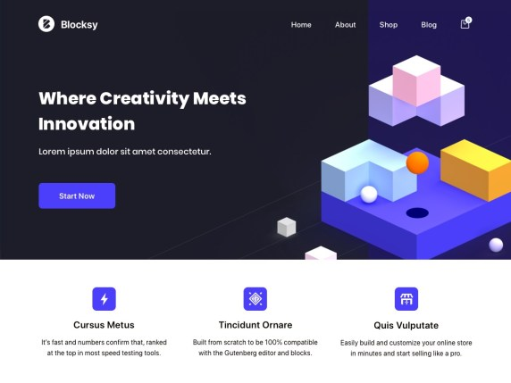 Blocksy free wordpress blog themes