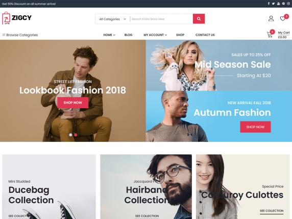 AZigcy Lite eCommerce WordPress Themes
