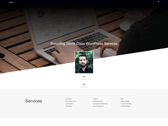 Free resume WordPress theme