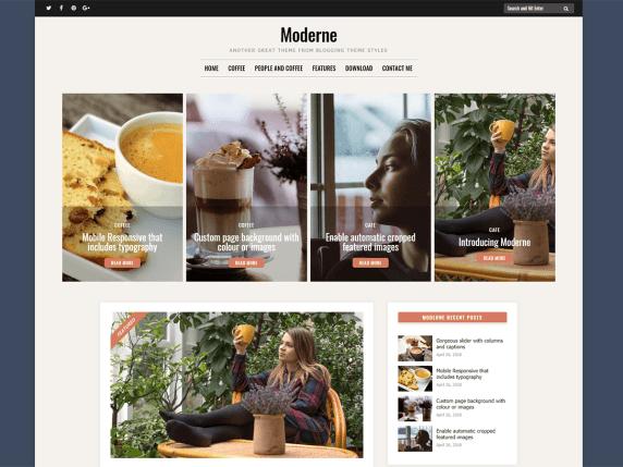 Moderne free wordpress blog themes