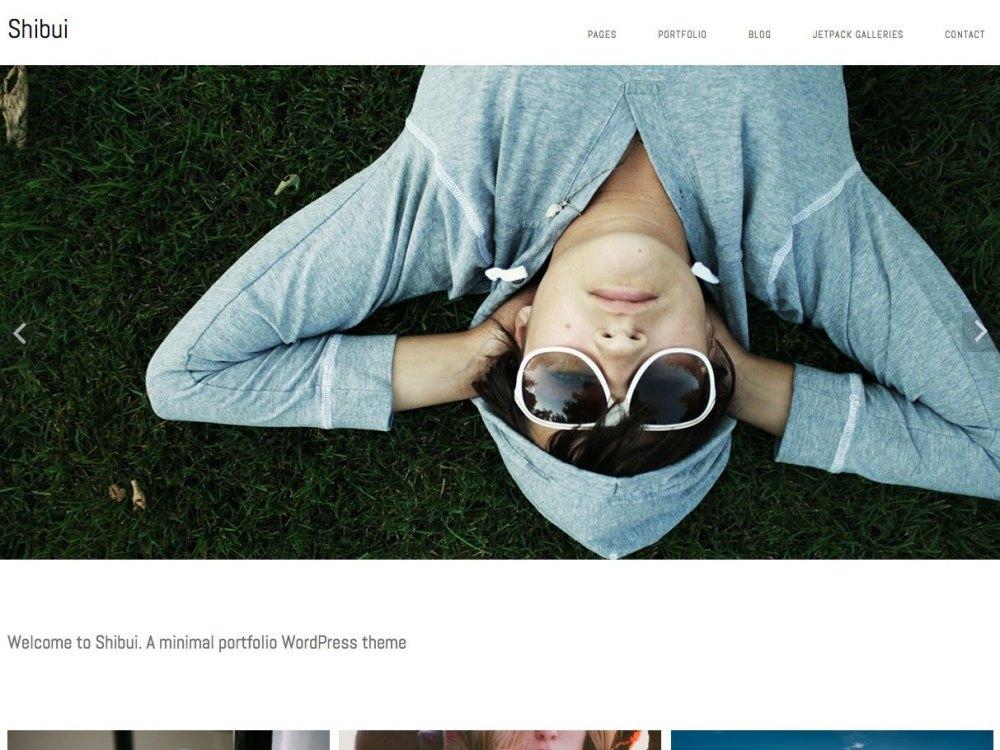 Shibui portfolio themes free