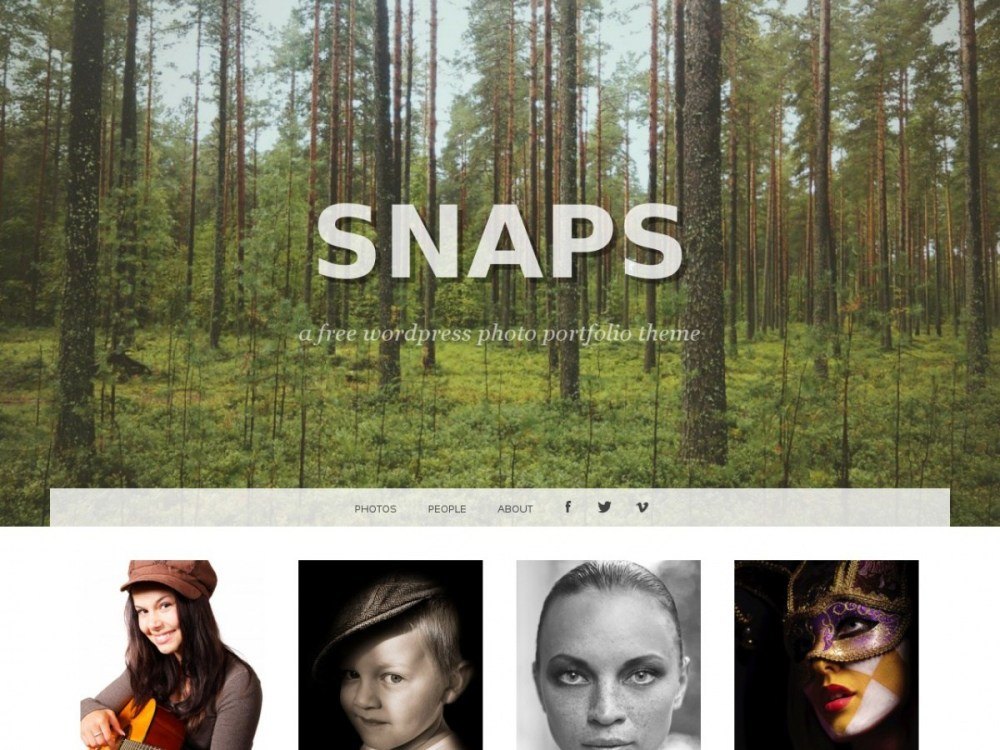 Snaps wordpress portfolio themes free