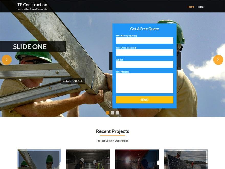 WordPress Construction theme free