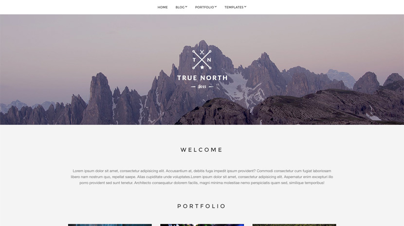 True North wordpress portfolio themes free