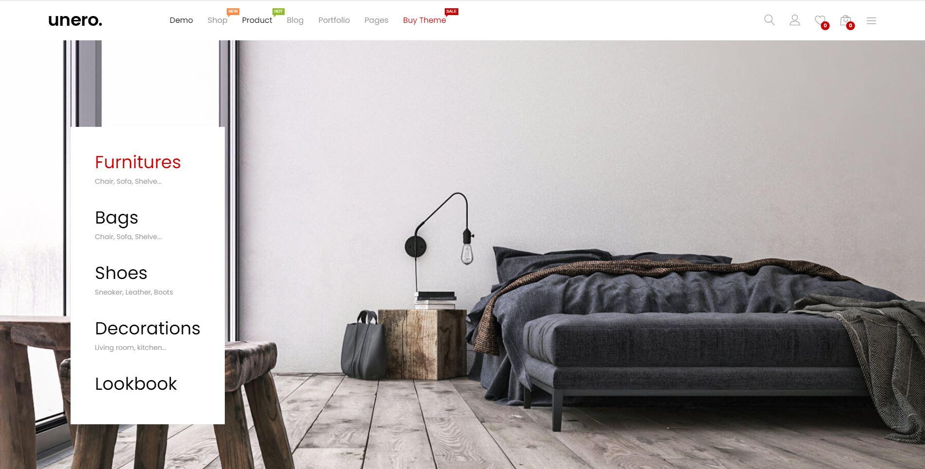 Unero - Furniture theme