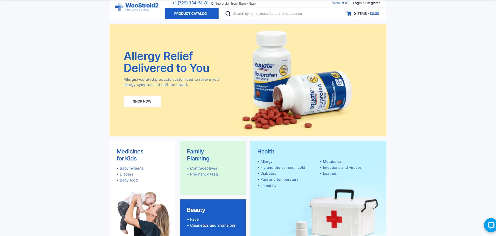 Woostroid2 medical Woocommerce themes