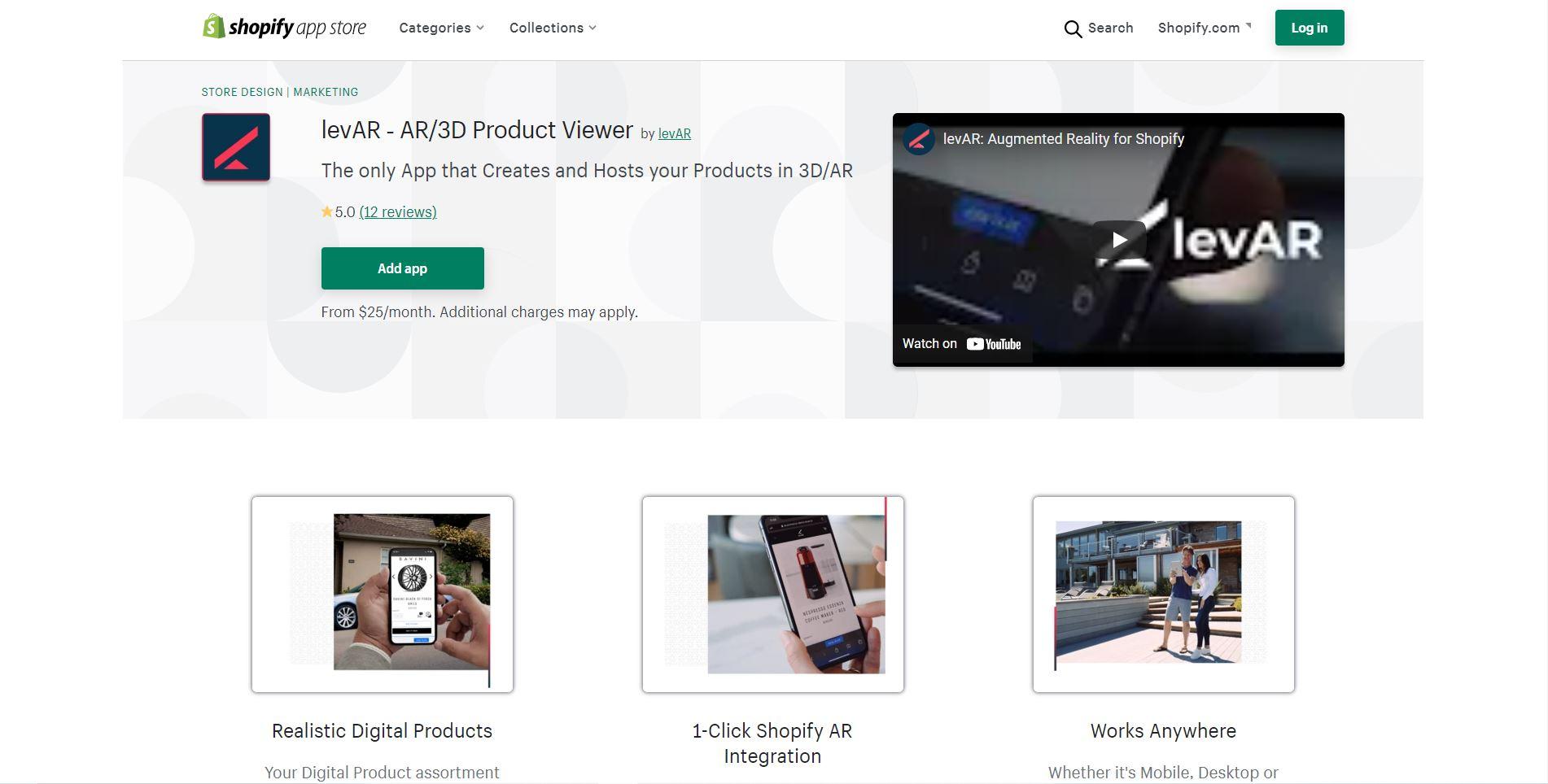 LevAR ‑ AR/3D Product Viewer