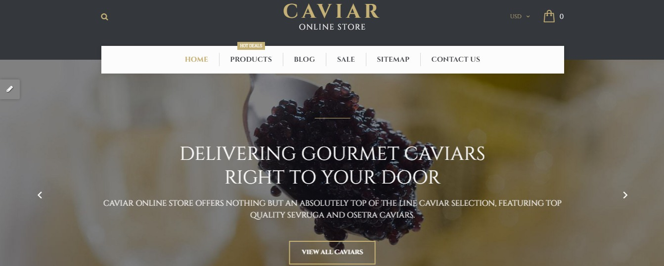 Caviar Fruits and vegetables Shopify Theme