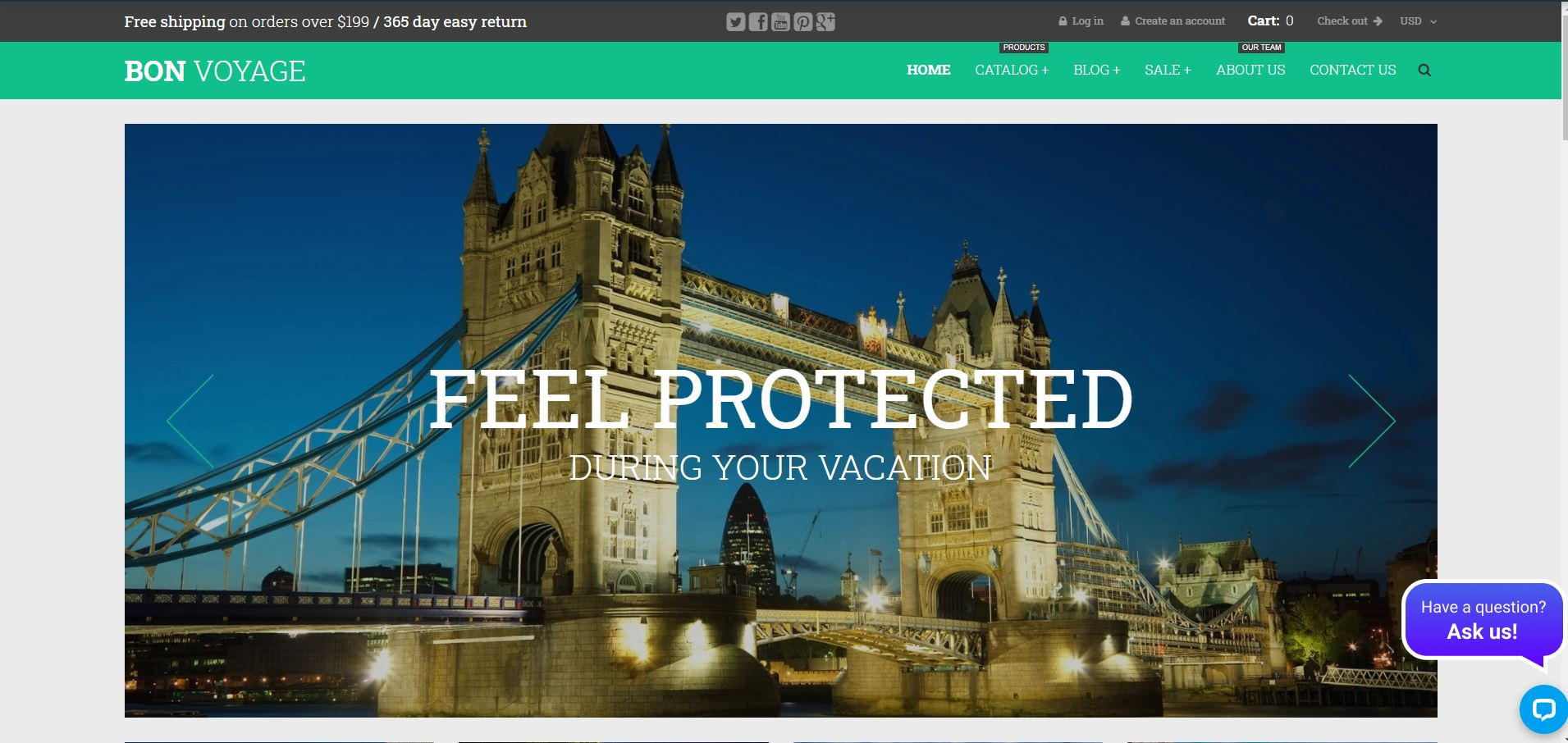 Shopify responsive theme