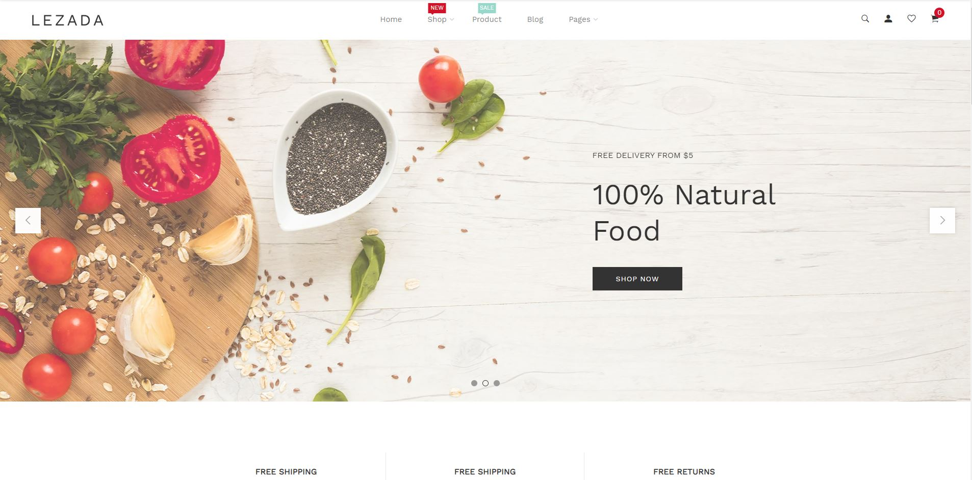 Lezada Fruits and vegetables Shopify Theme