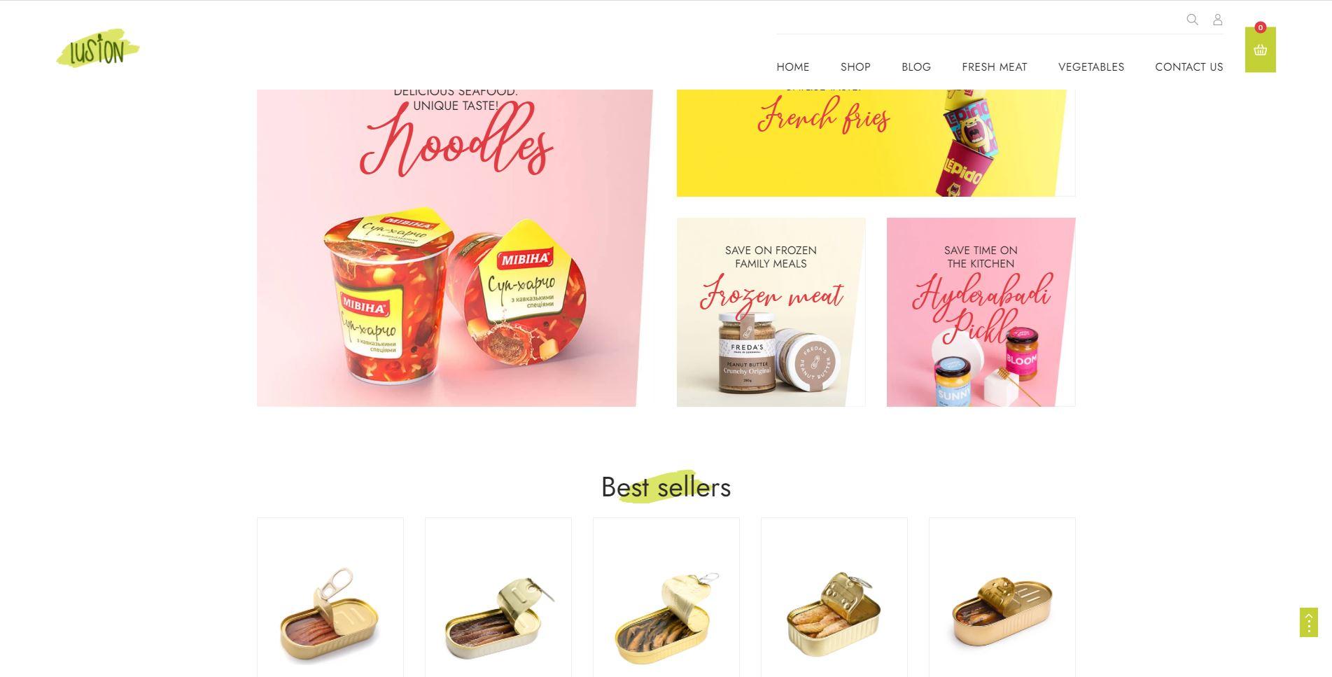 Lusion Shopify pet store theme