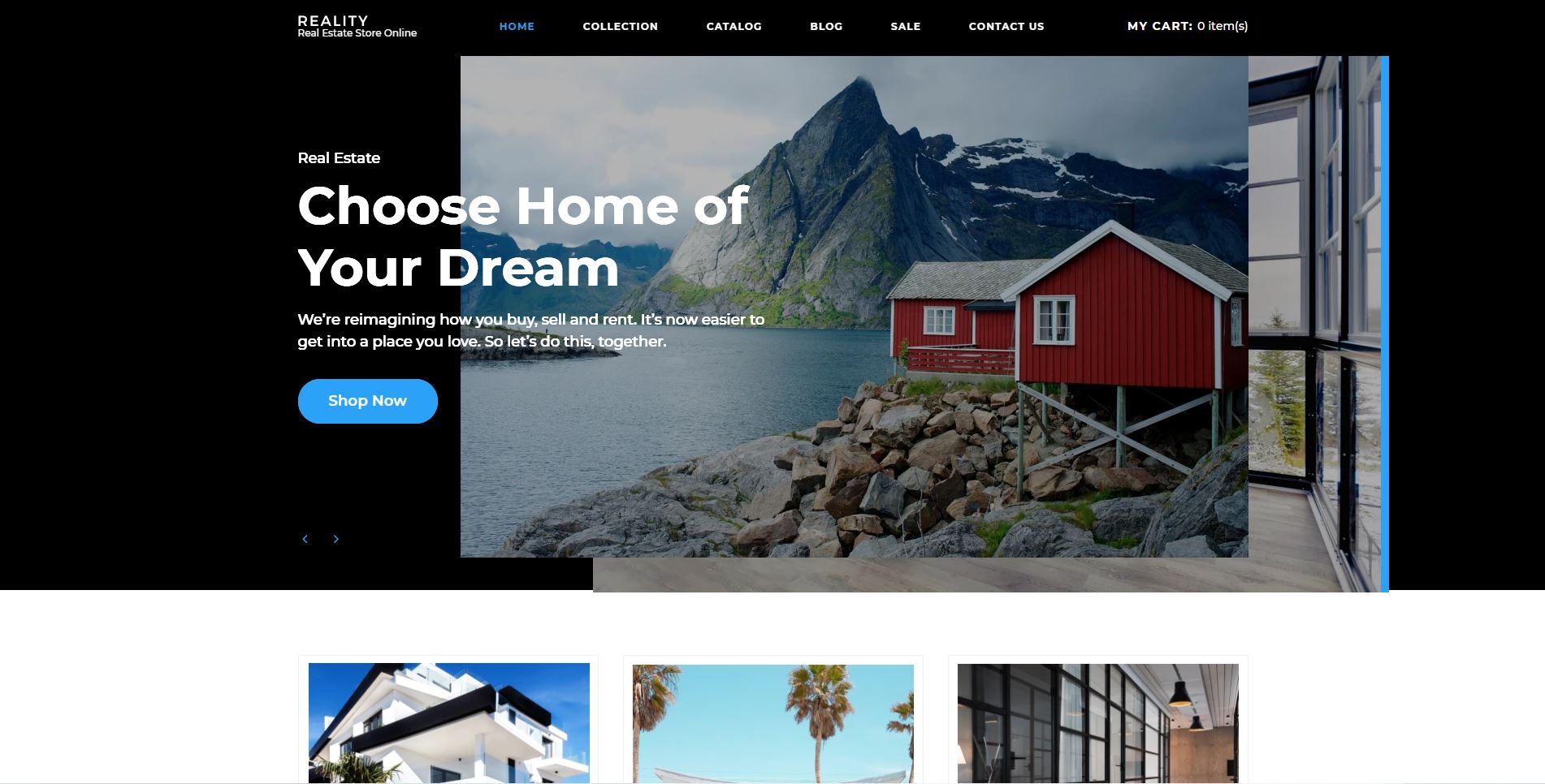 shopify real estate themes