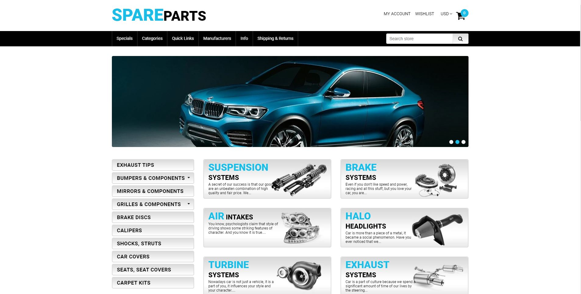 Spare Parts Shopify Theme