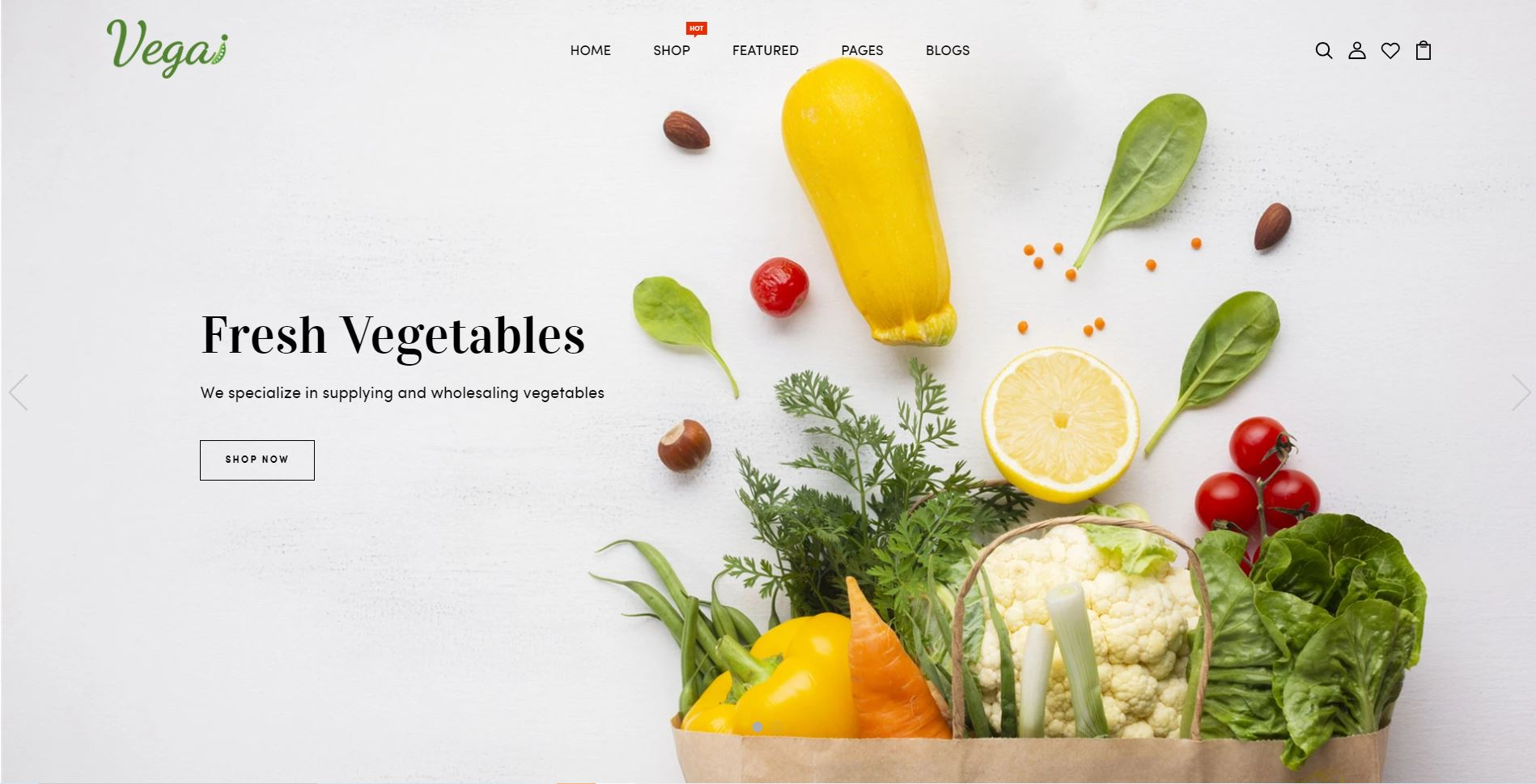 Vegai Fruits and vegetables Shopify Theme