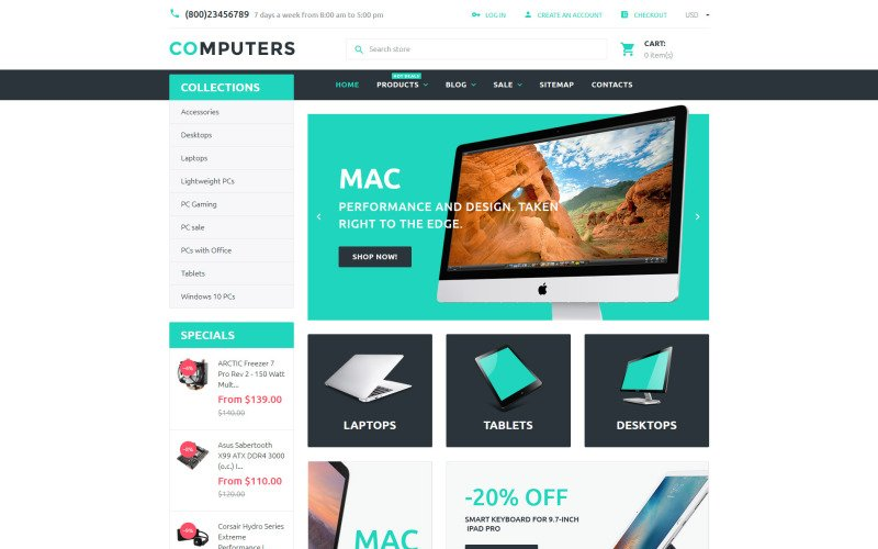 Computers Shopify Theme