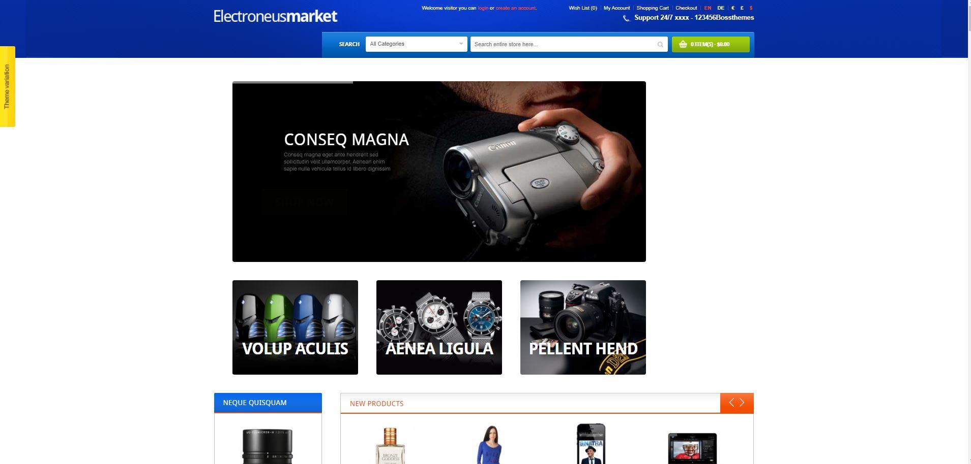 Electronics Store OpenCart Theme