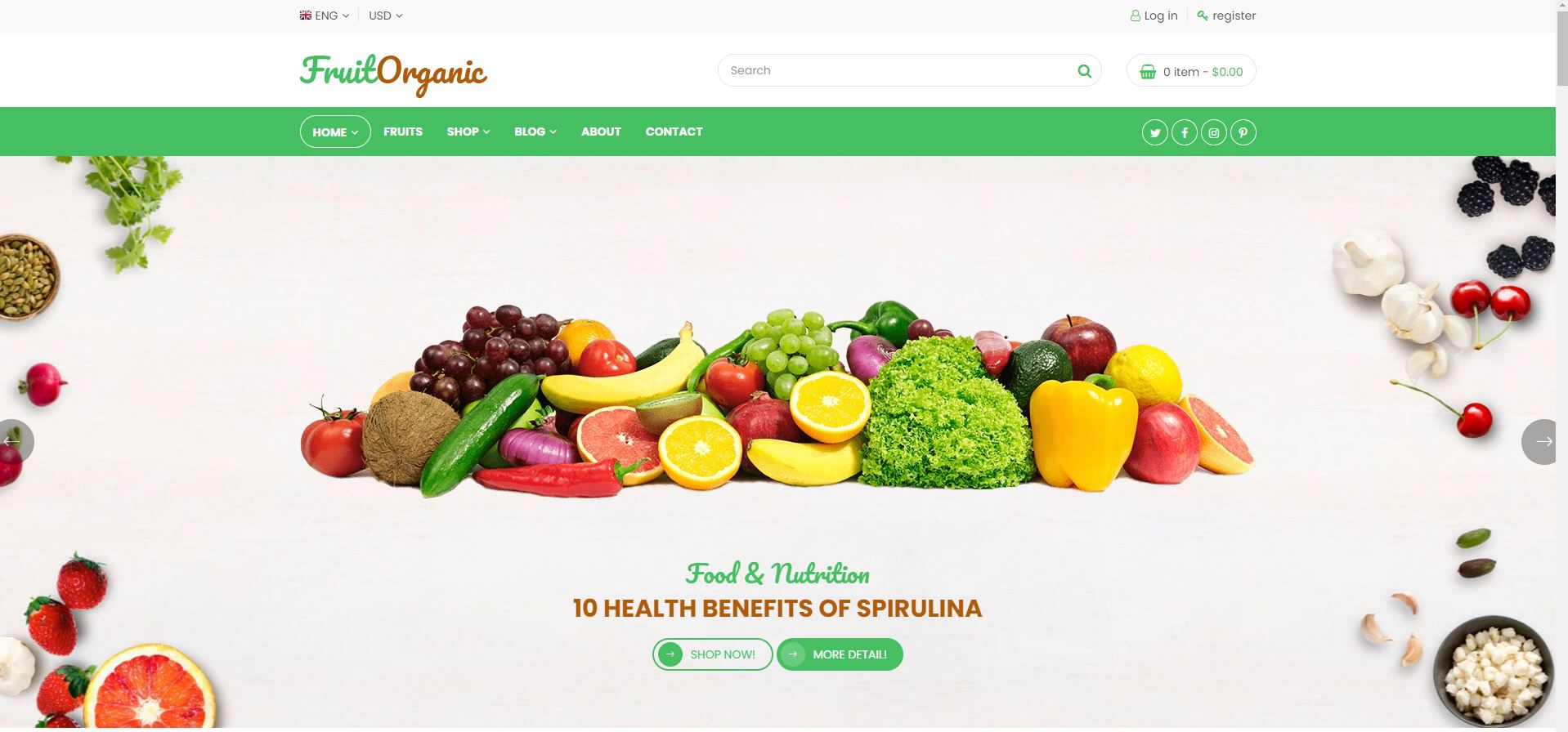 Fruit Shop Fruits and vegetables Shopify Theme