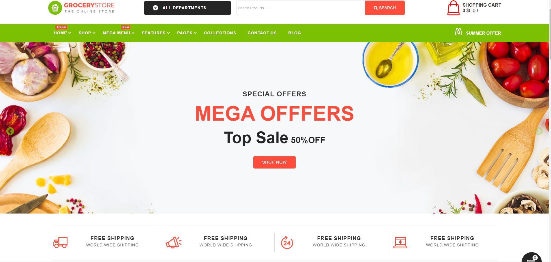 Grocery Store  Fruits and vegetables Shopify Theme