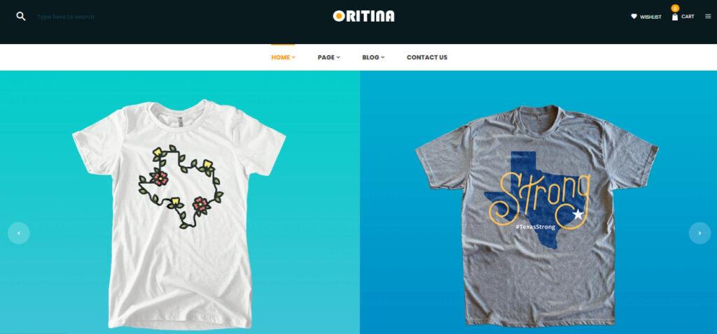 Shopify T-shirt theme