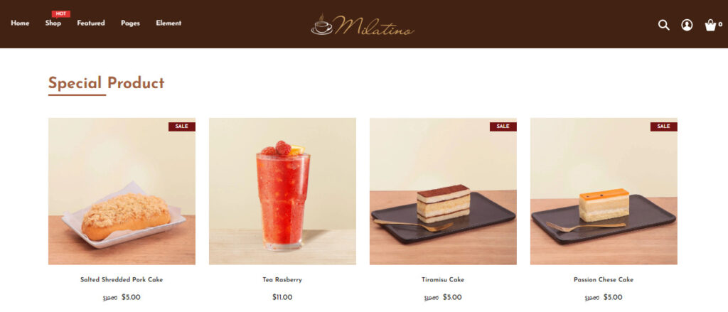 Shopify bakery theme