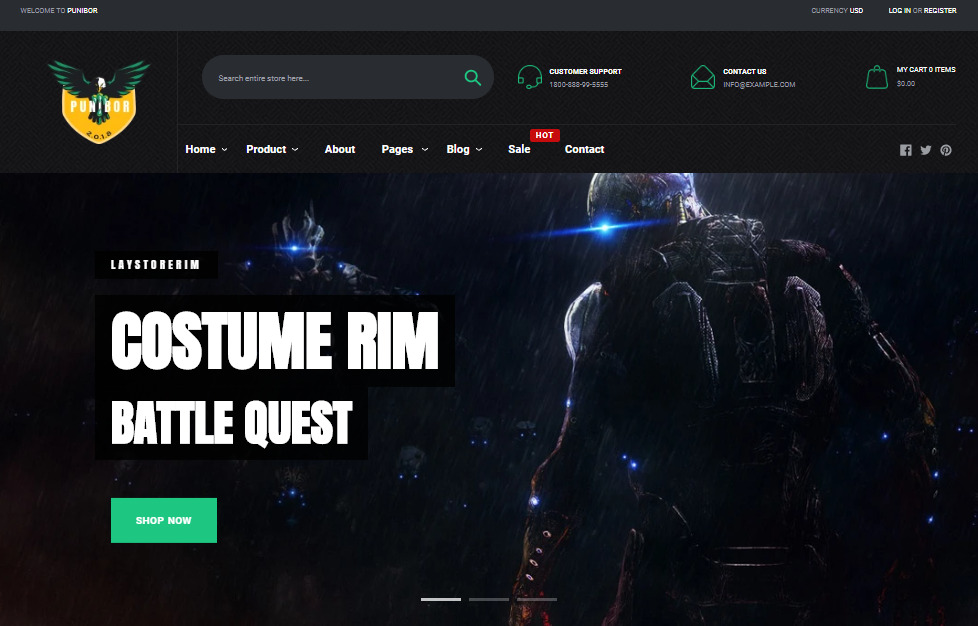 Game store theme Shopify