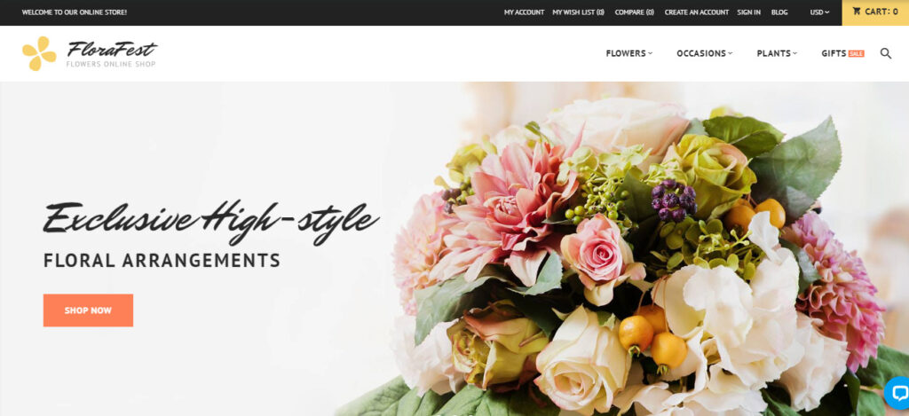 Magento flower theme