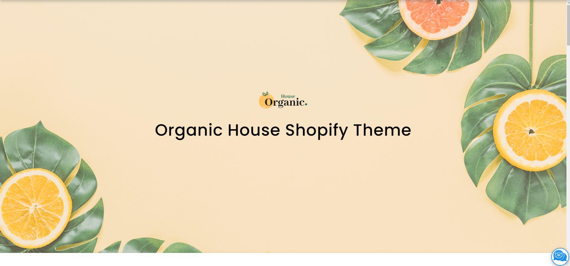 Organic House Store Shopify Theme