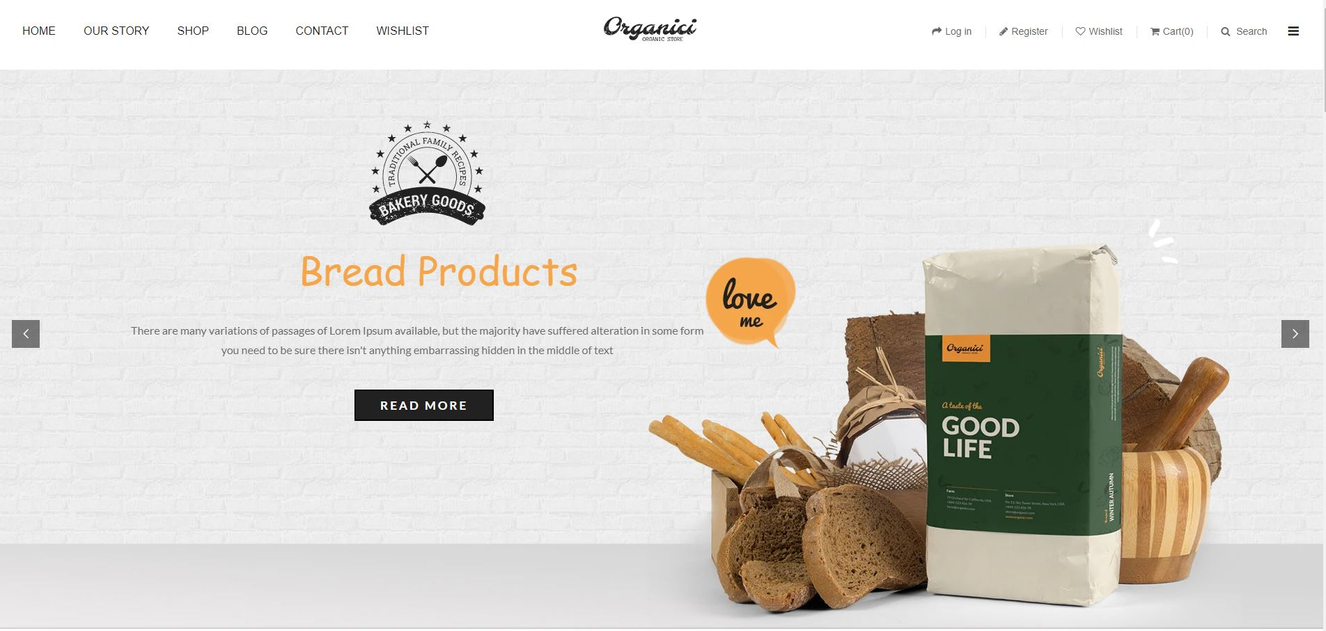 Organici  Fruits and vegetables Shopify Theme