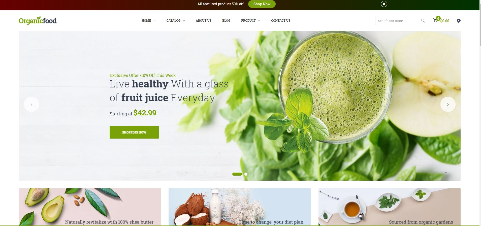Organic Fruits and vegetables Shopify Theme