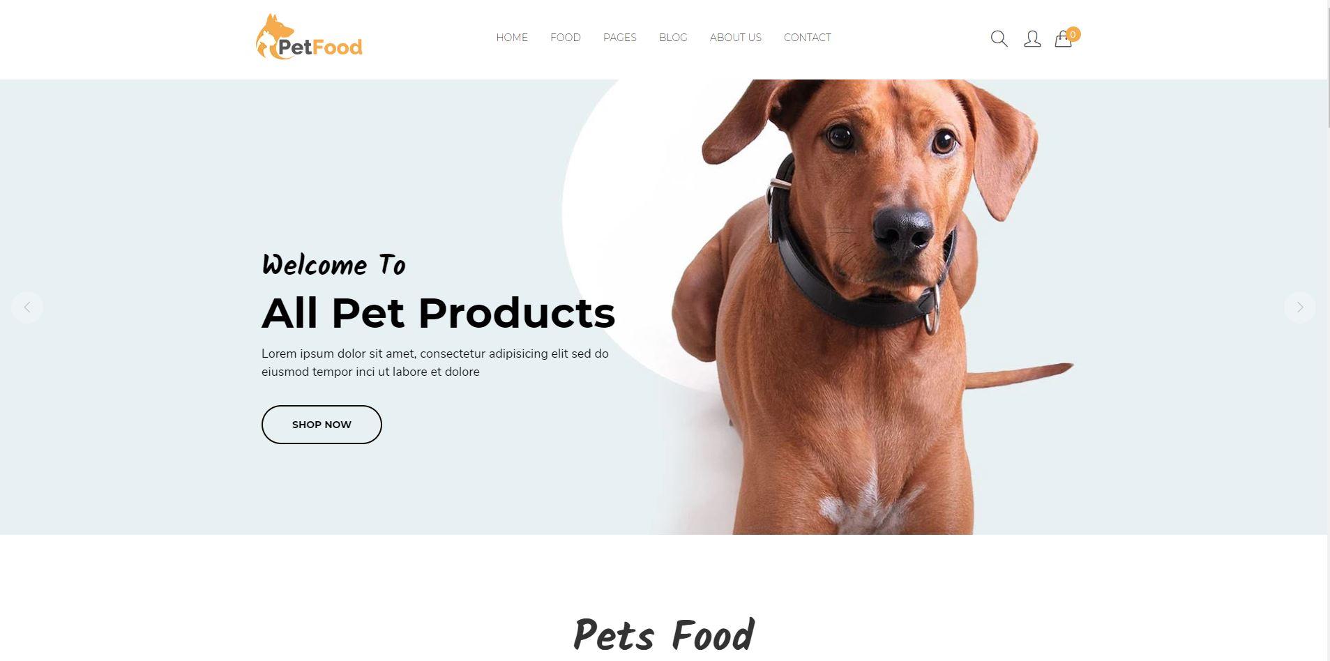 Shopify pet store theme