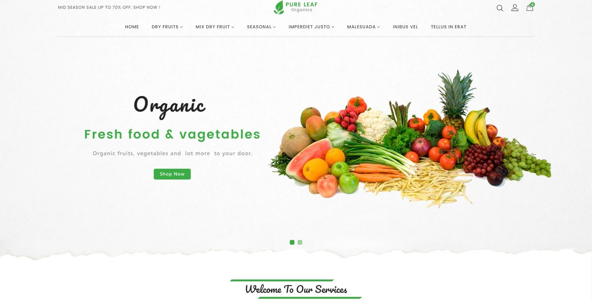 Pureleaf - Organic Shopify Theme