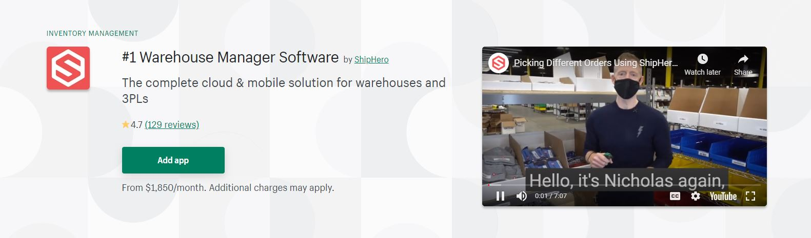 Warehouse Manager Software
