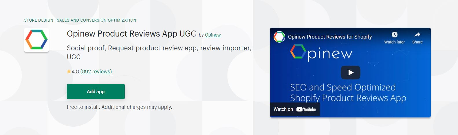 Opinew Product Reviews App UGC