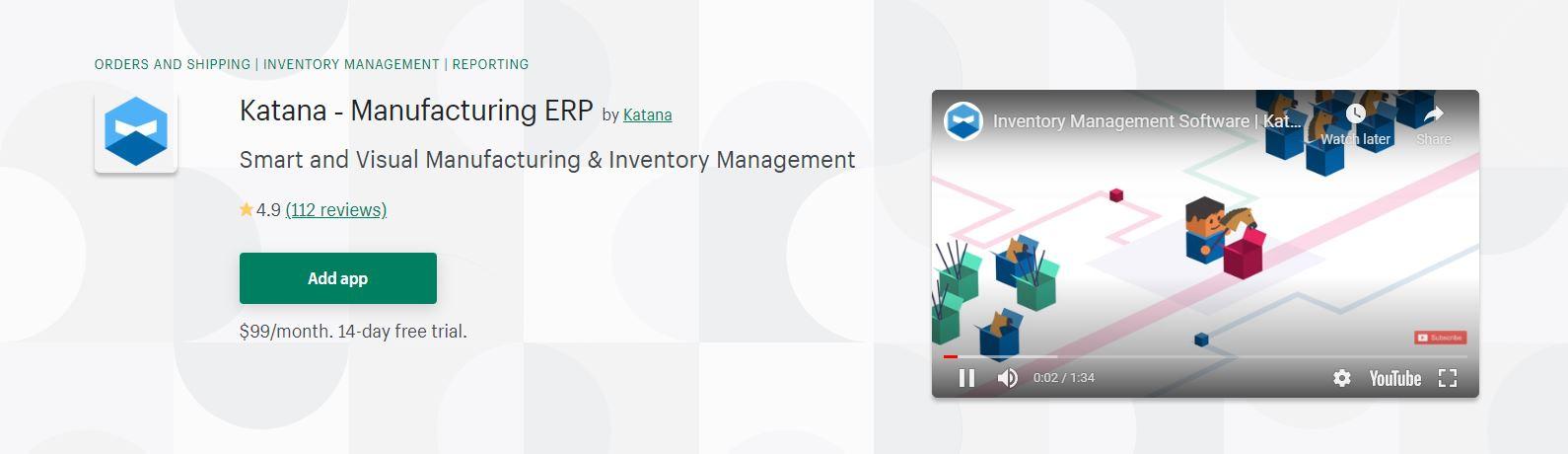 Katana ‑ Manufacturing ERP