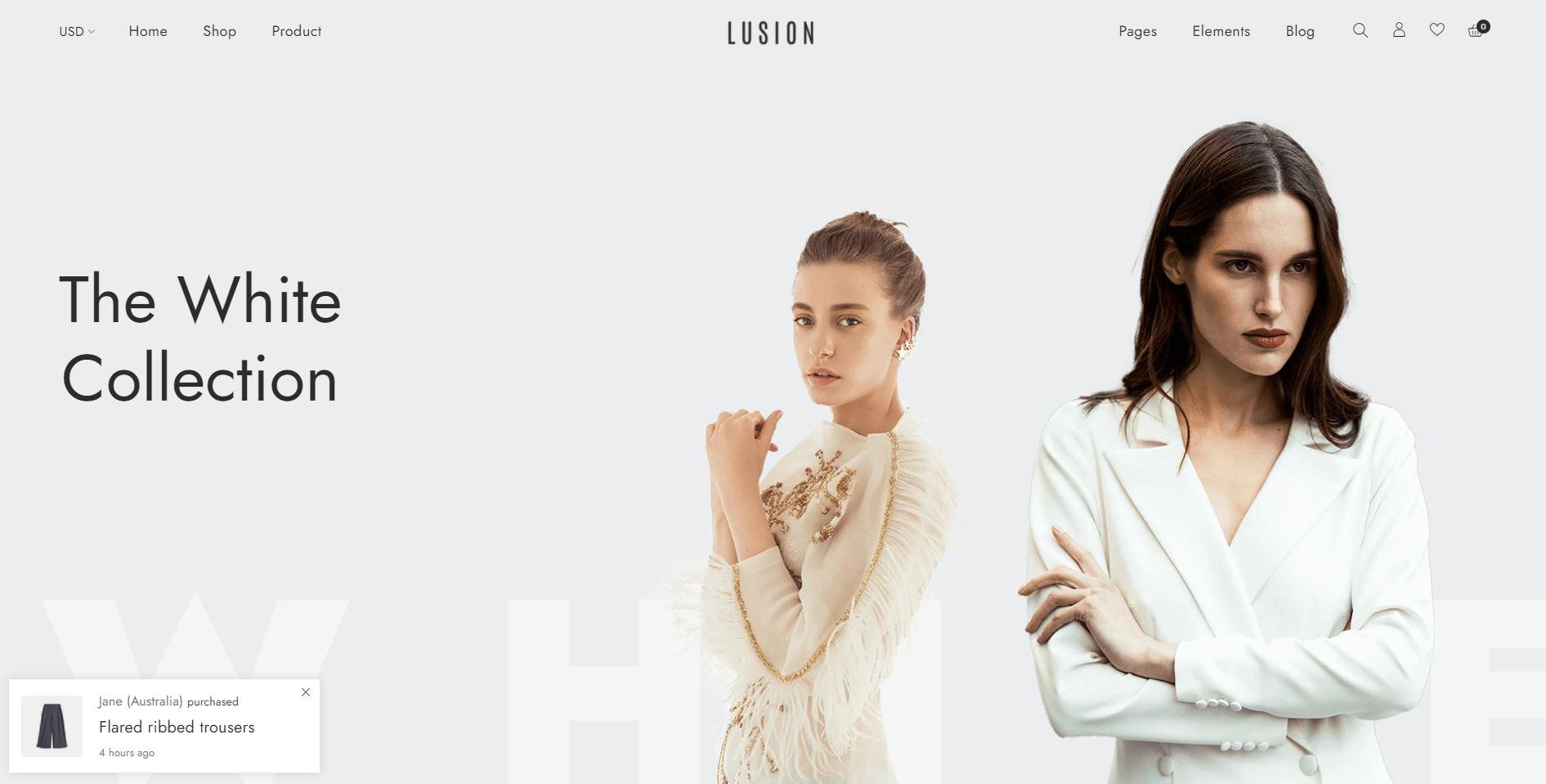 Lusion shopify theme