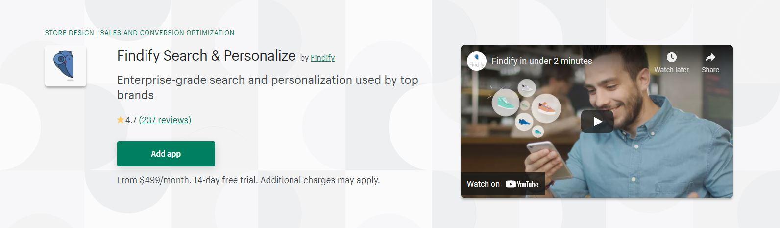 Shopify search app