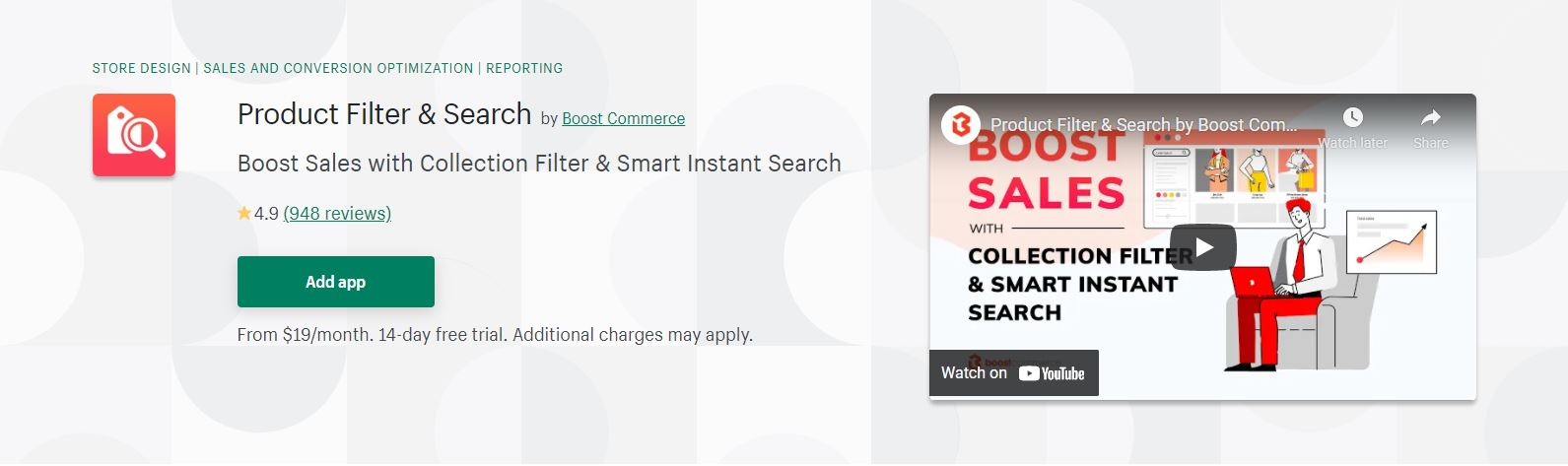 Product Filter & Search