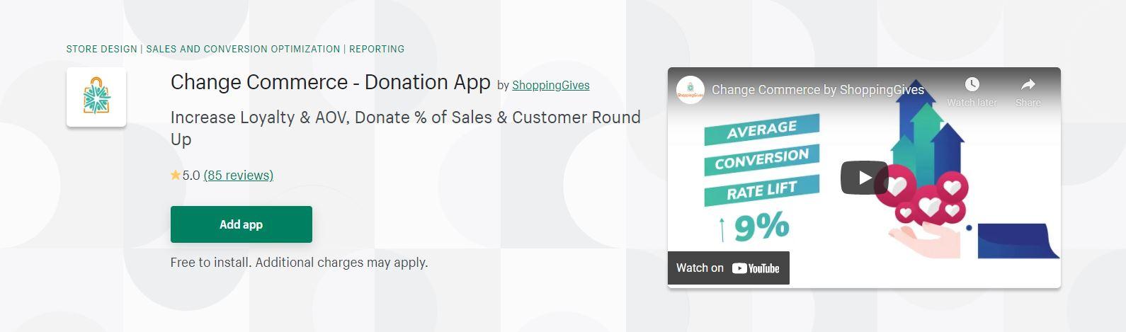 Change Commerce ‑ Donation App