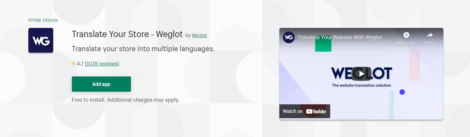 Shopify translation app