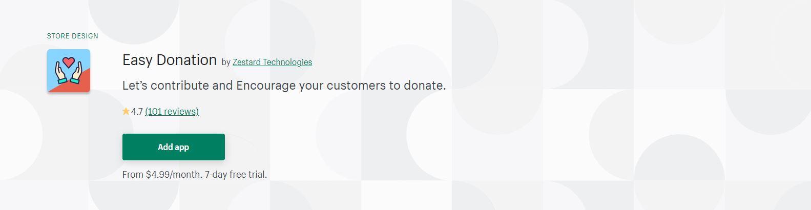 Easy Donation