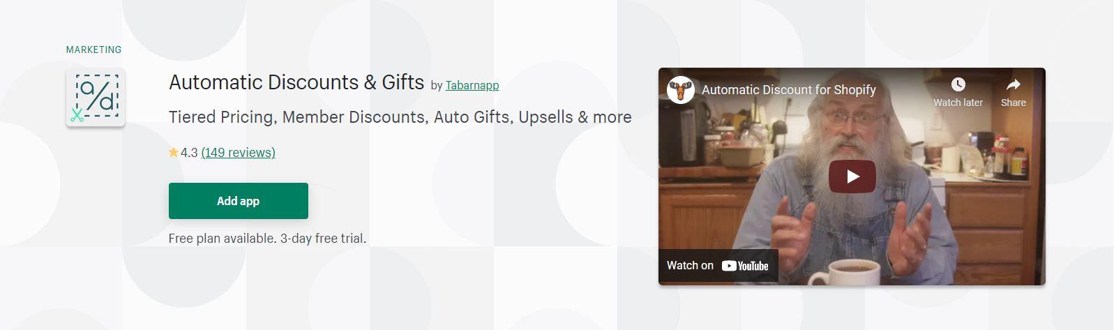 Shopify discount app