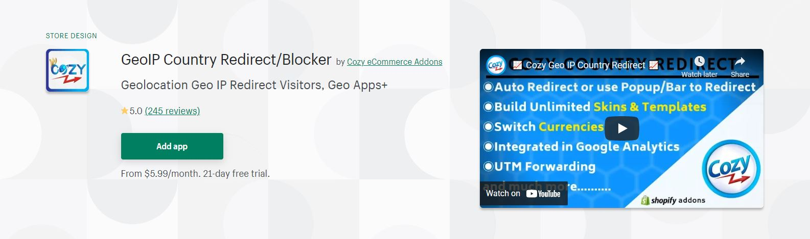 GeoIP Country Redirect/Blocker