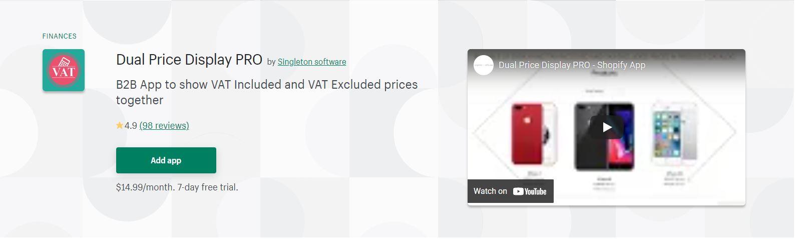 Dual Price Display PRO