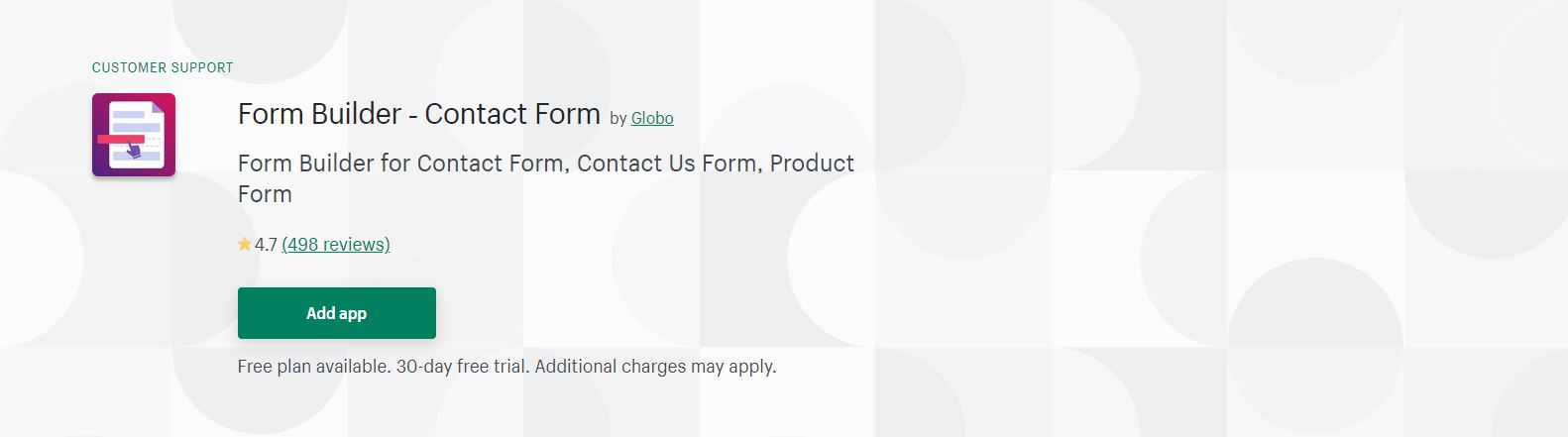 Form Builder ‑ Contact Form