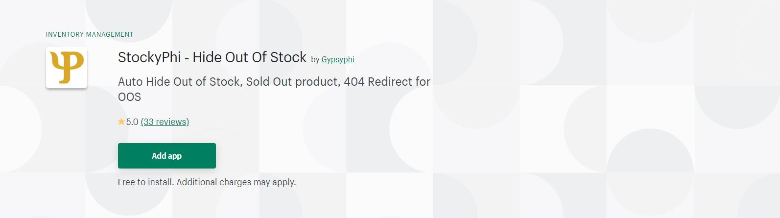 Shopify out of stock app