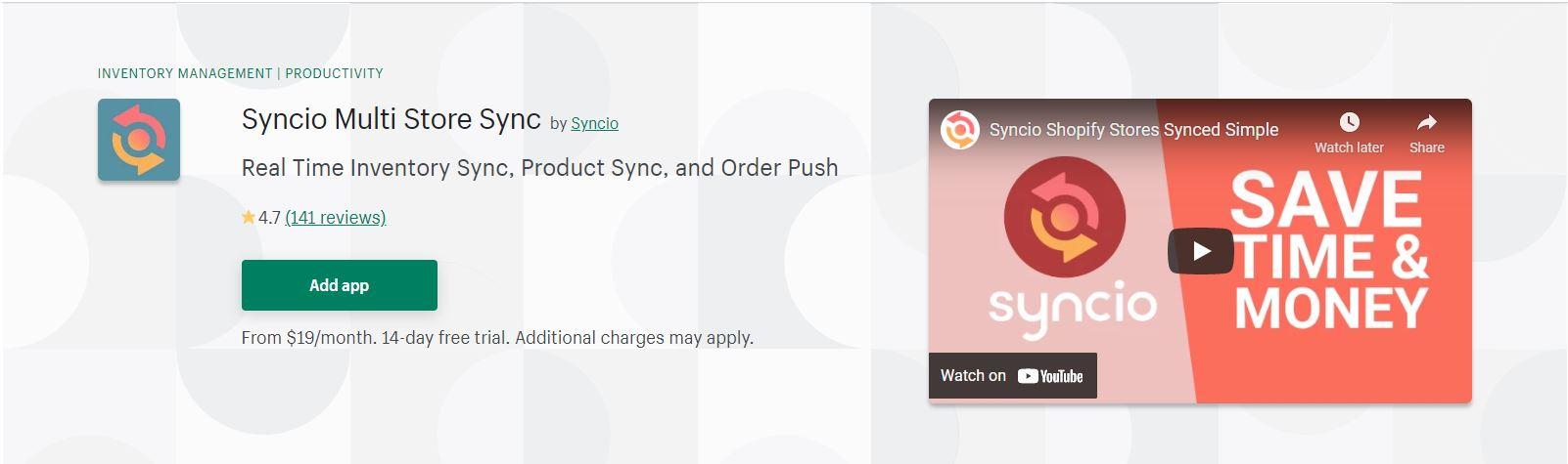 Syncio Multi Store Sync