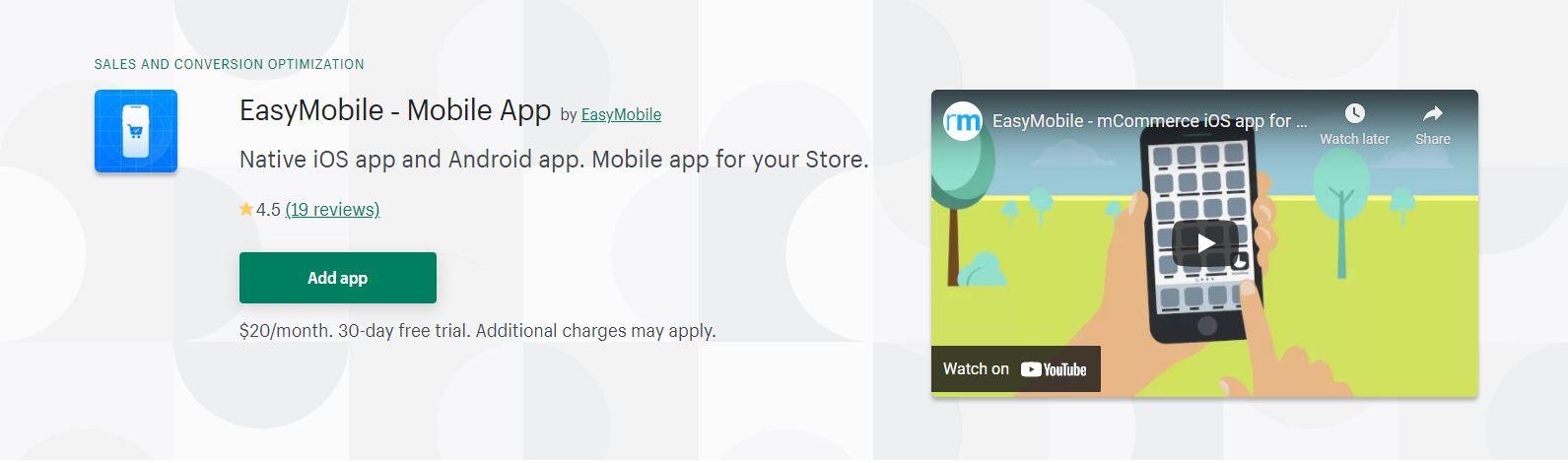 Shopify mobile app builder:
