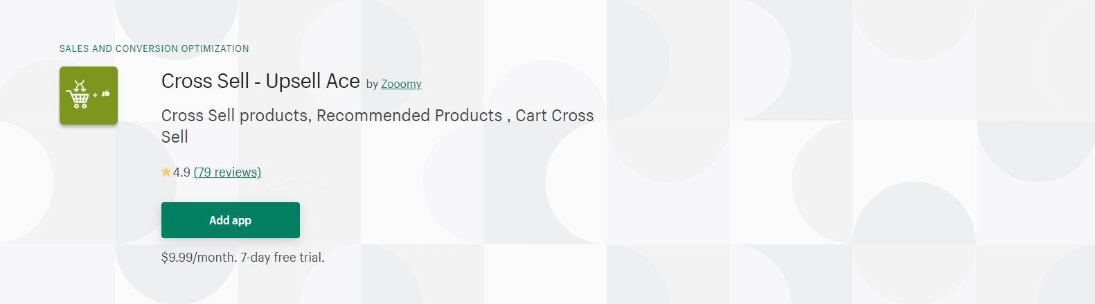 Cross Sell ‑ Upsell Ace
