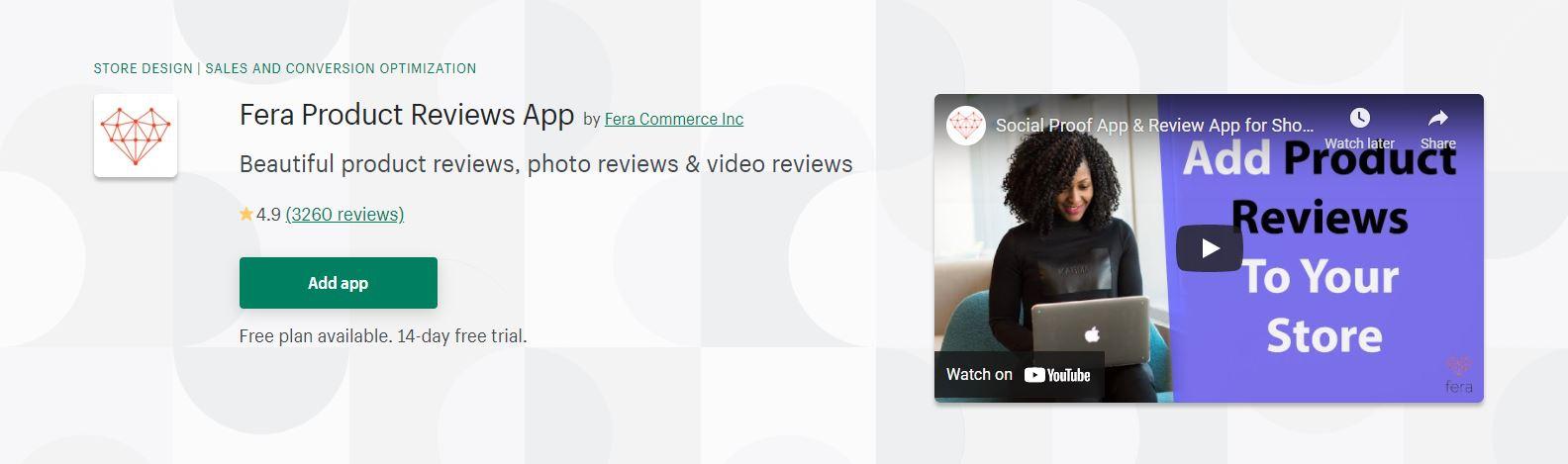 Fera Product Reviews App