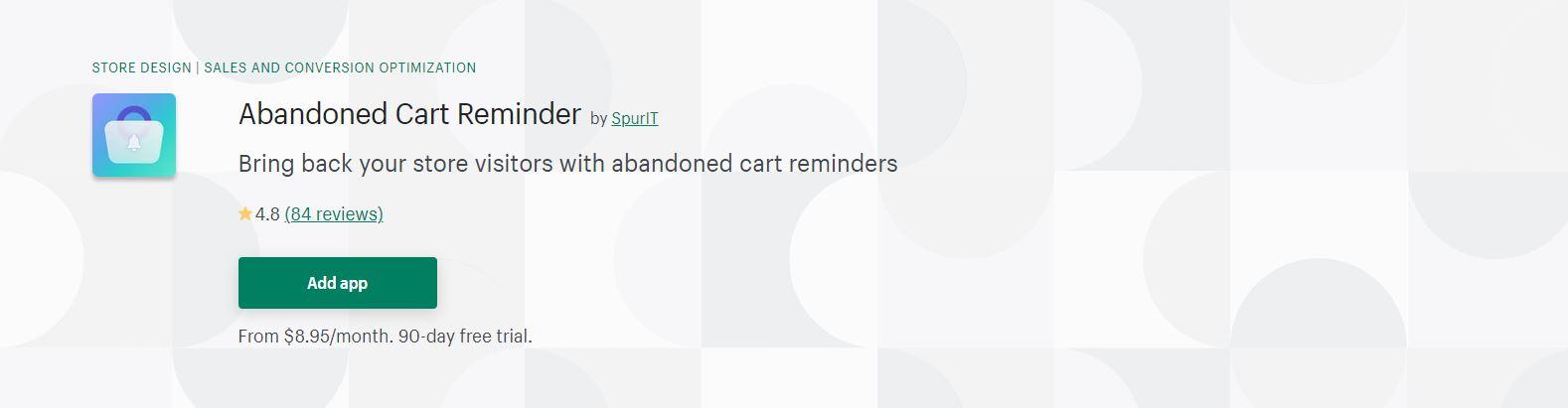 Abandoned Cart Reminder